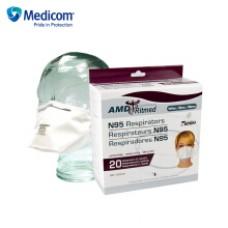 Medicom麦迪康2320防护口罩折叠式内外抗水设计粉尘环境木工雾霾 20只/盒