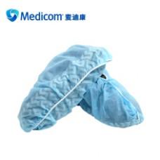 Medicom麦迪康 8007 蓝色一次性鞋套加强加厚医用SMS无纺布防水防滑设计透气性好100只/盒